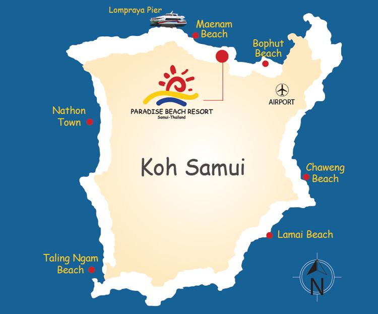 Koh Samui Hotels Maenam Beach